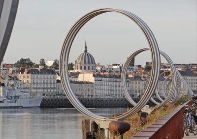 Nantes anneaux de Buren